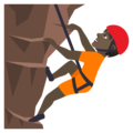 Person Climbing: Dark Skin Tone on JoyPixels 6.0