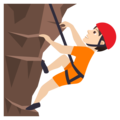 Person Climbing: Light Skin Tone on JoyPixels 6.0