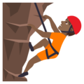 Person Climbing: Medium-Dark Skin Tone on JoyPixels 6.0