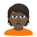 Person Pouting: Dark Skin Tone on JoyPixels 6.0
