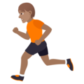 Person Running: Medium Skin Tone on JoyPixels 6.0