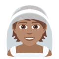 Person With Veil: Medium Skin Tone on JoyPixels 6.0