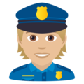 Police Officer: Medium-Light Skin Tone on JoyPixels 6.0