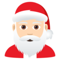Santa Claus: Light Skin Tone on JoyPixels 6.0