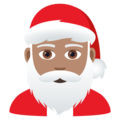 Santa Claus: Medium Skin Tone on JoyPixels 6.0