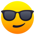 Smiling Face with Sunglasses on JoyPixels 6.0