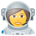 Woman Astronaut on JoyPixels 6.0