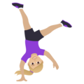 Woman Cartwheeling: Medium-Light Skin Tone on JoyPixels 6.0