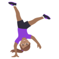Woman Cartwheeling: Medium Skin Tone on JoyPixels 6.0