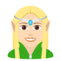 Woman Elf: Light Skin Tone on JoyPixels 6.0