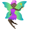 Woman Fairy: Dark Skin Tone on JoyPixels 6.0