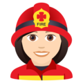 Woman Firefighter: Light Skin Tone on JoyPixels 6.0