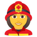 Woman Firefighter on JoyPixels 6.0