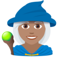 Woman Mage: Medium Skin Tone on JoyPixels 6.0