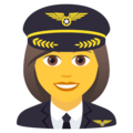 Woman Pilot on JoyPixels 6.0