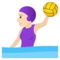 Woman Playing Water Polo: Light Skin Tone on JoyPixels 6.0