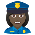 Woman Police Officer: Dark Skin Tone on JoyPixels 6.0