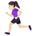 Woman Running: Light Skin Tone on JoyPixels 6.0