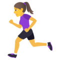Woman Running on JoyPixels 6.0