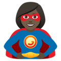 Woman Superhero: Dark Skin Tone on JoyPixels 6.0