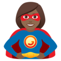 Woman Superhero: Medium-Dark Skin Tone on JoyPixels 6.0