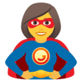 Woman Superhero on JoyPixels 6.0