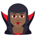 Woman Vampire: Medium-Dark Skin Tone on JoyPixels 6.0