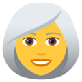 Woman: White Hair on JoyPixels 6.0