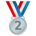 2nd Place Medal on JoyPixels 6.5
