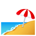 Beach with Umbrella on JoyPixels 6.5
