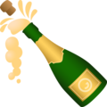 Bottle with Popping Cork on JoyPixels 6.5