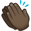 Clapping Hands: Dark Skin Tone on JoyPixels 6.5