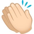 Clapping Hands: Light Skin Tone on JoyPixels 6.5