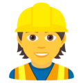 Construction Worker on JoyPixels 6.5