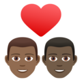 Couple with Heart: Man, Man, Medium-Dark Skin Tone, Dark Skin Tone on JoyPixels 6.5