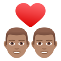 Couple with Heart: Man, Man, Medium Skin Tone on JoyPixels 6.5