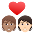 Couple with Heart: Person, Person, Medium Skin Tone, Light Skin Tone on JoyPixels 6.5