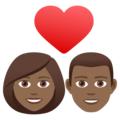 Couple with Heart: Woman, Man, Medium-Dark Skin Tone on JoyPixels 6.5