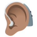 Ear with Hearing Aid: Medium Skin Tone on JoyPixels 6.5