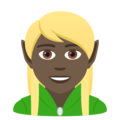 Elf: Dark Skin Tone on JoyPixels 6.5