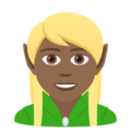 Elf: Medium-Dark Skin Tone on JoyPixels 6.5