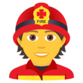 Firefighter on JoyPixels 6.5