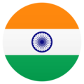 Flag: India on JoyPixels 6.5
