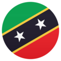 Flag: St. Kitts & Nevis on JoyPixels 6.5