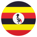 Flag: Uganda on JoyPixels 6.5