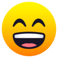Grinning Face with Smiling Eyes on JoyPixels 6.5