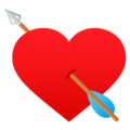 Heart with Arrow on JoyPixels 6.5