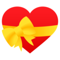Heart with Ribbon on JoyPixels 6.5