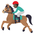 Horse Racing: Dark Skin Tone on JoyPixels 6.5