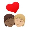 Kiss: Person, Person, Medium-Dark Skin Tone, Medium-Light Skin Tone on JoyPixels 6.5
